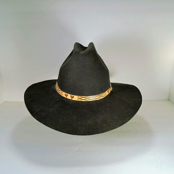 784ce806501 Black Quarter Horse wool felt cowboy hat. M 5ac673ac5521bea3e7fe15fd